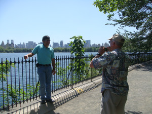 A quiet time in Central Park, NY before flight home Daoud and Bill Plitt 5/5/10